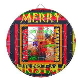 Vrolijke Kerstmis is de wereld rond me gelukkig Dartborden