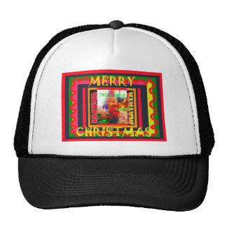 Vrolijke Kerstmis is de wereld rond me gelukkig Trucker Petten