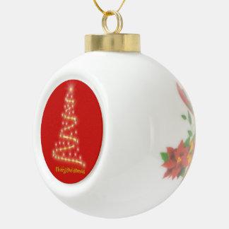 Vrolijke Kerstmis Keramische Bal Ornament