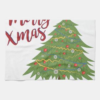 Vrolijke Kerstmis Keukenhanddoek
