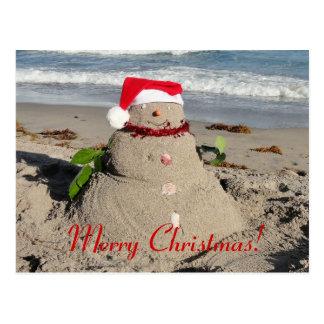 Vrolijke Kerstmis! Klaas Vaak sneeuwman Briefkaart