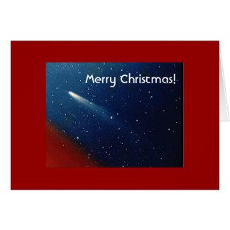 Vrolijke Kerstmis! Komeet Kohoutek Kaart
