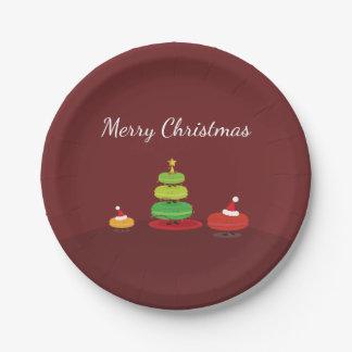 Vrolijke Kerstmis Macarons | Bord van het Document