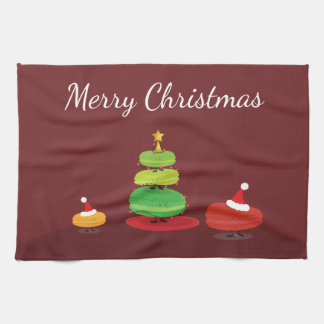 Vrolijke Kerstmis Macarons | Handdoek van de