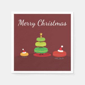 Vrolijke Kerstmis Macarons | Servet van het Papieren Servetten