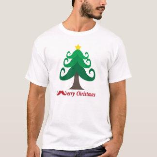Vrolijke Kerstmis met de Kerstboom van de Snor T Shirt