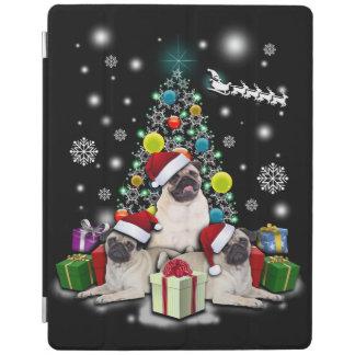 Vrolijke Kerstmis met Pug het Dier van de Hond iPad Cover