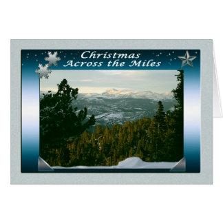 Vrolijke Kerstmis over de Mijlen Briefkaarten 0