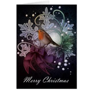 Vrolijke Kerstmis Robin Kaart