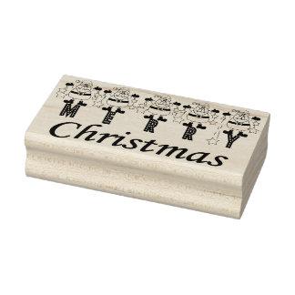 Vrolijke Kerstmis Santas Rubberenstempel