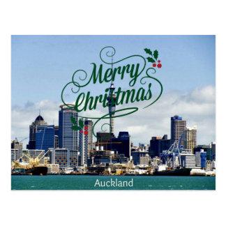 Vrolijke Kerstmis van Auckland Briefkaart