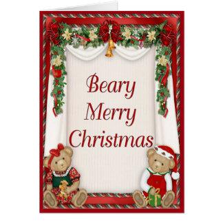 Vrolijke Kerstmis van Beary Kaart
