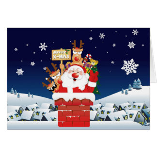 Vrolijke Kerstmis van de Bemanning van de Kerstman Kaart