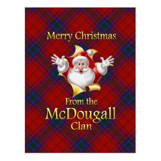 Vrolijke Kerstmis van de Clan McDougall Briefkaart