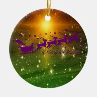 Vrolijke Kerstmis van de Kerstman Rond Keramisch Ornament