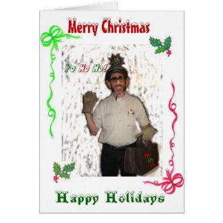 Vrolijke Kerstmis van de Kluit van de kerstman Wenskaart