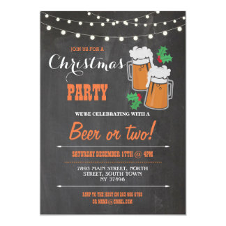 Vrolijke Kerstmis van de Maretak van de Bieren van 12,7x17,8 Uitnodiging Kaart
