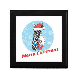 Vrolijke Kerstmis van de zebra Decoratiedoosje