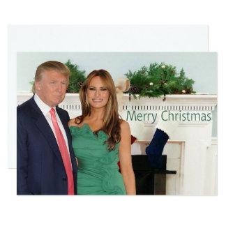 Vrolijke Kerstmis van Donald en Melania Kaart