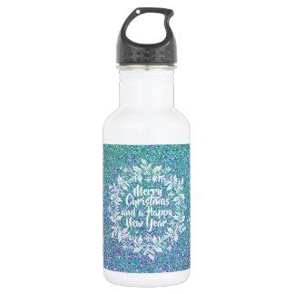 Vrolijke Kerstmis van Glittery | Fles van het