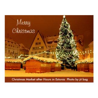 Vrolijke Kerstmis van het Briefkaart van Estland