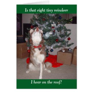 Vrolijke Kerstmis van Skye Briefkaarten 0