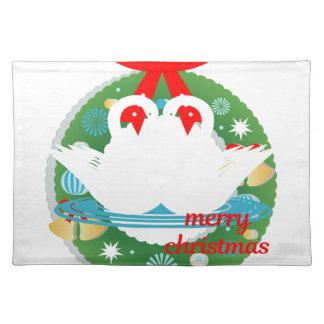 vrolijke Kerstmiszwanen Placemat