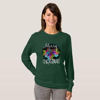 Vrolijke Kleurrijke Succulente BloemenKerstmis van T Shirt