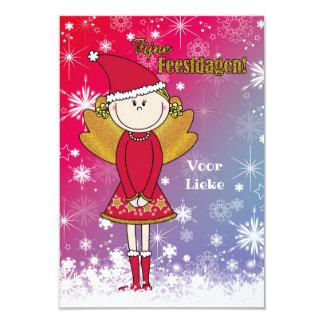 Vrolijke naam - kerstkaart met een kerst engeltje kaart