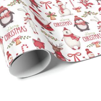 Vrolijke nad van de Kerstman van Kerstmis Vrienden Inpakpapier