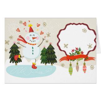 Vrolijke Sneeuwman - Klantgerichte Kaart
