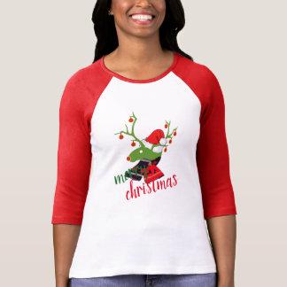 Vrolijke van het de decoratieRendier van Kerstmis T Shirt