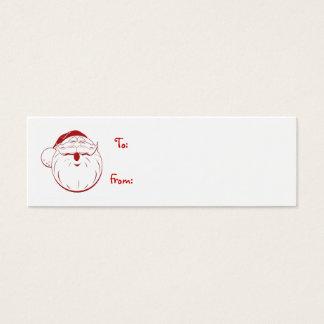 vrolijkste de giftlabel van vakantie retro santa mini visitekaartjes