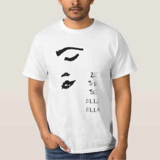 Vrouw Dame Face Sketch She Ze Elle Ella Sie T Shirt