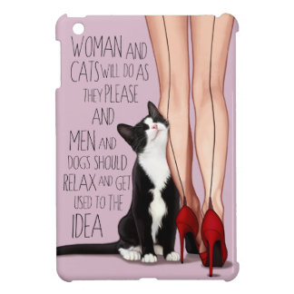 Vrouw en de Kat van de Smoking iPad Mini Hoesje