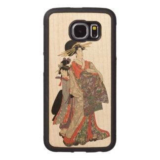 Vrouw in kleurrijke kimono (Vintage Japanse druk)