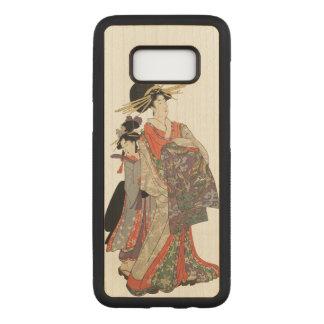 Vrouw in kleurrijke kimono (Vintage Japanse druk) Carved Samsung Galaxy S8 Hoesje