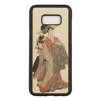 Vrouw in kleurrijke kimono (Vintage Japanse druk) Carved Samsung Galaxy S8+ Hoesje