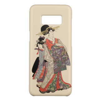 Vrouw in kleurrijke kimono (Vintage Japanse druk) Case-Mate Samsung Galaxy S8 Hoesje