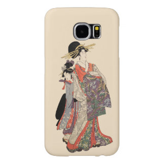 Vrouw in kleurrijke kimono (Vintage Japanse druk) Samsung Galaxy S6 Hoesje