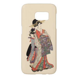 Vrouw in kleurrijke kimono (Vintage Japanse druk) Samsung Galaxy S7 Hoesje