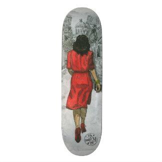 Vrouw in Rood Skate Decks