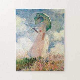 Vrouw met de Promenade Monet van de Parasol Legpuzzel
