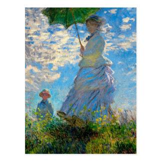 Vrouw met een Impressionist van Claude Monet van Briefkaart