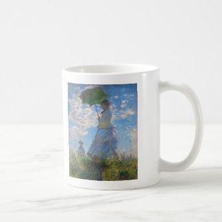 Vrouw met een Parasol door Claude Monet Koffiemok