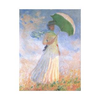 Vrouw met het Fijne Art. van Monet van de Parasol Gallerij Wrap Canvas