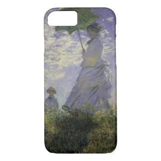 Vrouw met Parasol door Claude Monet, Vintage Art. iPhone 8/7 Hoesje