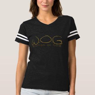 VROUW VAN de GOUDEN DUNNE BRIEVEN van de GOD MET T Shirts