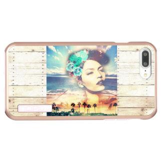 Vrouw van de Zomer van de Palmen van Californië Incipio DualPro Shine iPhone 8/7 Plus Hoesje