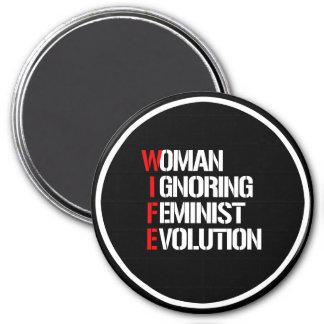 VROUW - Vrouw die Feministische Evolutie negeert Magneet